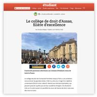 Visuel de l'article du Figaro Étudiant consacré au Collège de droit