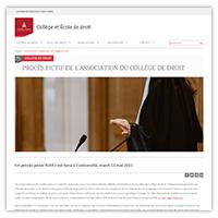 Visuel de l'article consacré au Collège de droit de l'université Paris 2 Panthéon-Assas
