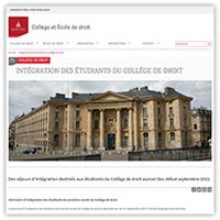 Visuel de l'article consacré à l'intégration des étudiants du Collège de droit