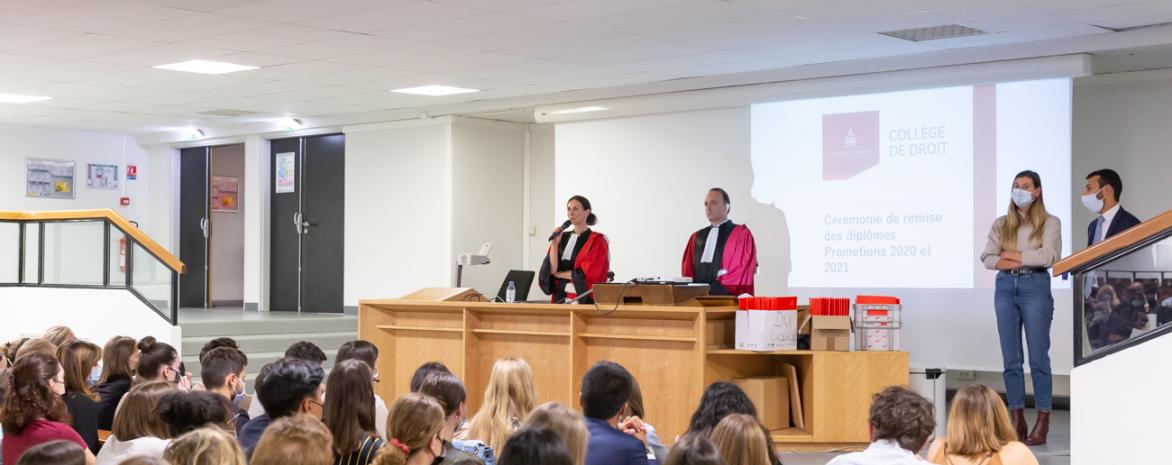 Remise de diplômes du Collège de droit - Promotions 2020 et 2021